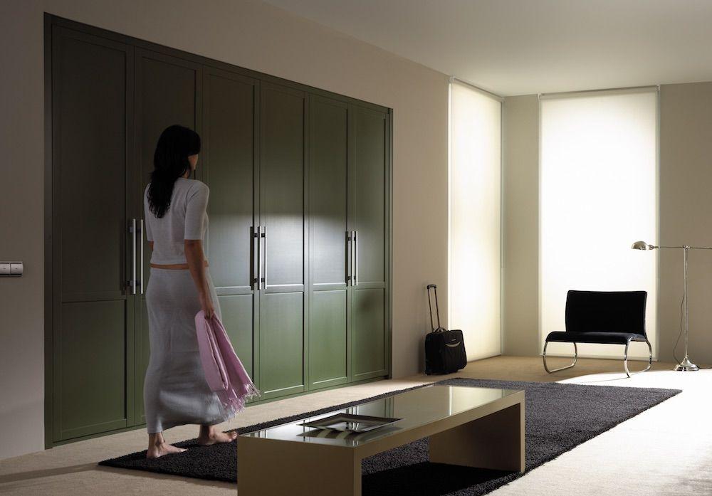 armario puerta color verde